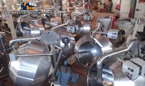 Conjunto de drageadeiras em aço inox tipo tangerina de 300 litros semi novas