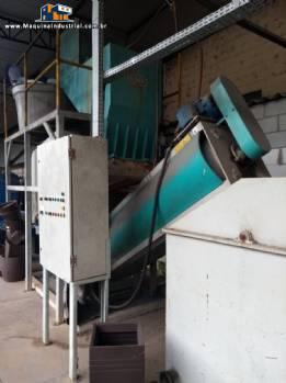 Trituradora lavadora e secadora de plásticos KIE