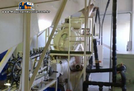 Linha completa para sabonete com capacidade aproximada de 1000 kg / hora G.Mazzoni