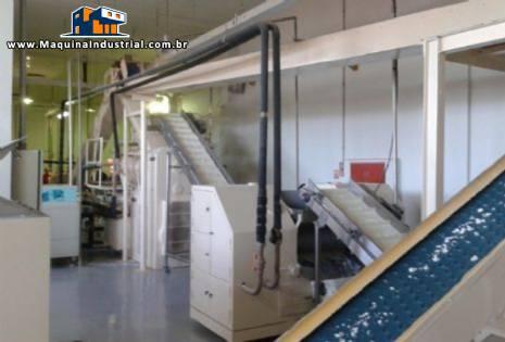 Linha de sabonete aproximadamente 1000 kg hora G.Mazzoni