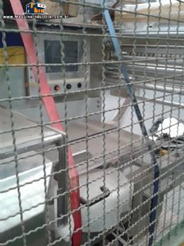 Embaladora horizontal em aço inox